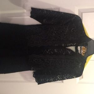 Express black lace dress